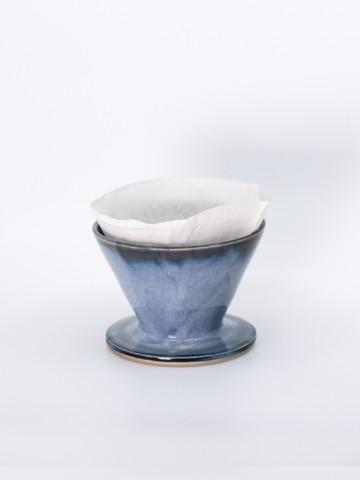 Filtre à café bleu